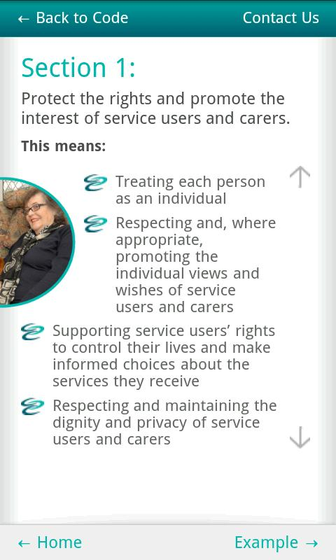 Social Care Workers Code - screenshot