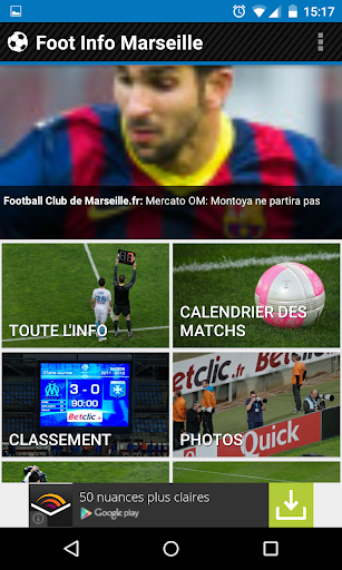 Foot Info Marseille - Ads free