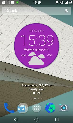 Android Lollipop Zooper Widget