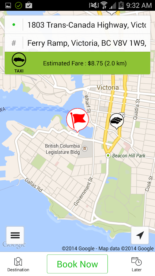Victoria Taxi Smart Hail- screenshot