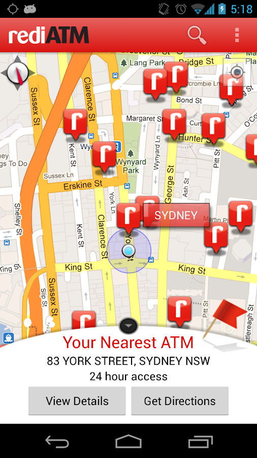 rediATM Finder - screenshot