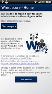 Whist score- screenshot thumbnail