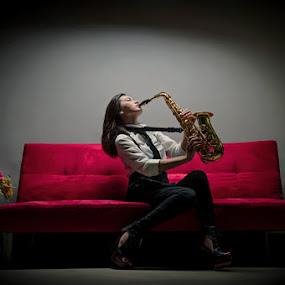 Play The Rhythm by Irwan Kairuman - People Fashion ( model, fashion, saxophone )