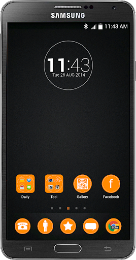 BlackOrange Go Launcher Theme
