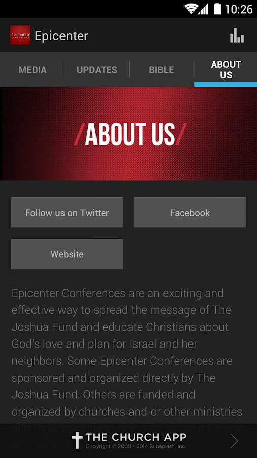 Epicenter Conference - screenshot
