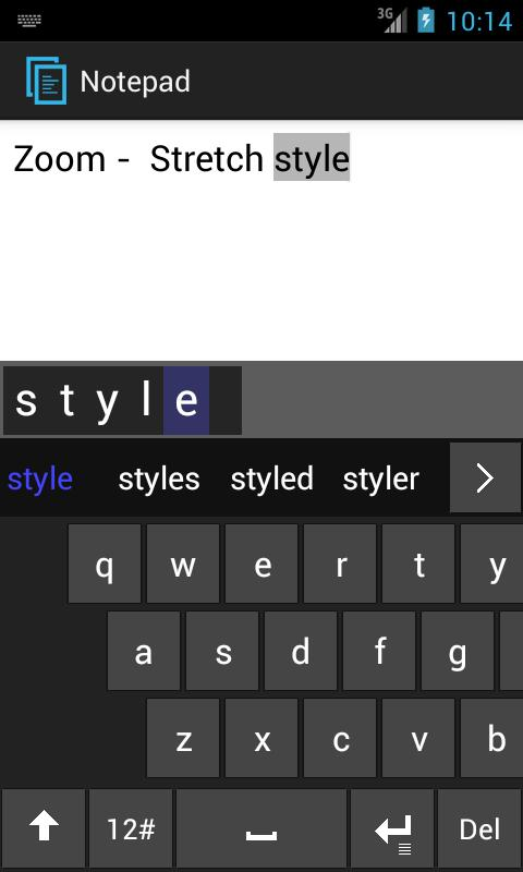 ZoomKee Keyboard - screenshot