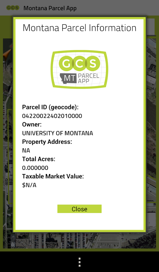 Montana Parcel App - screenshot