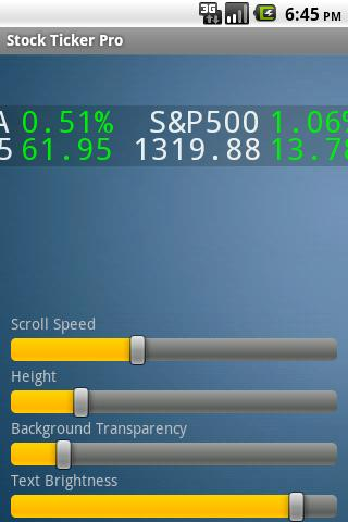 Stock Ticker Pro - screenshot