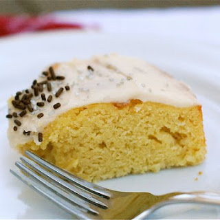 Vanilla Birthday Cake with Vanilla Bean Frosting