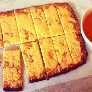 Cheesy, Garlic Cauliflower Flatbread