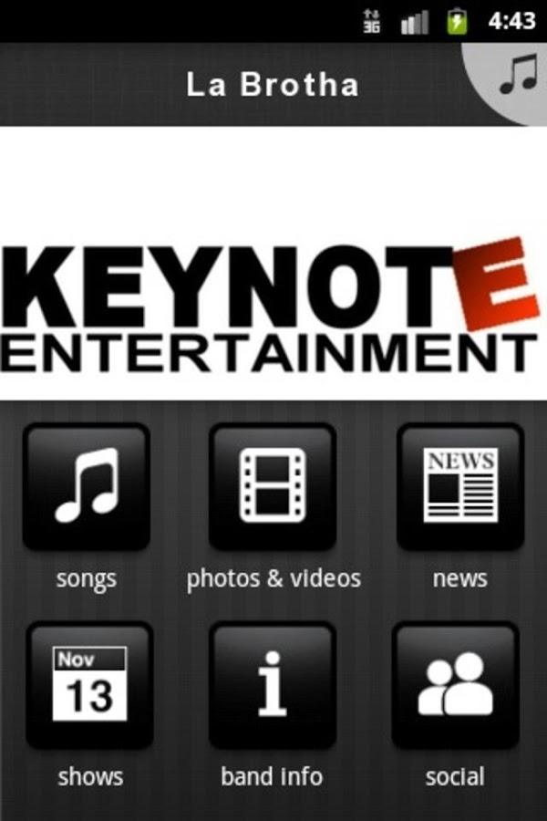 Keynote Ent - screenshot