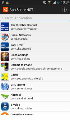App Share NST - screenshot