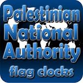 Palestinian flag clocks