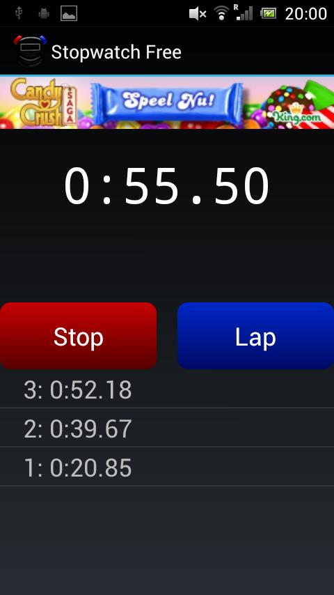 Stopwatch Free - screenshot