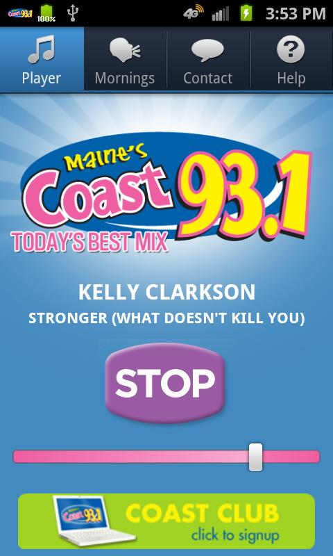 Coast 93.1 - screenshot