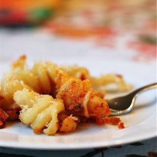 Baked Mac & Cheese with Marinara.