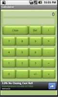 Screenshot of Basic Calculator (Green)