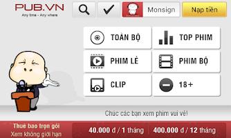 Screenshot of PUBVN.NET for mobile
