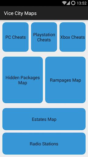 Vice City Cheats and Maps