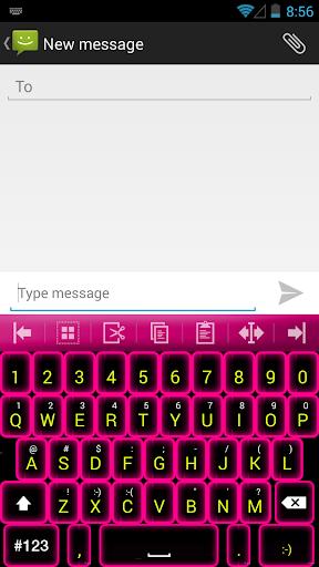 Keyboard++ pink neon theme