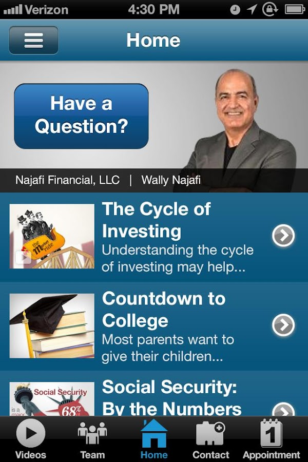 Najafi Financial- screenshot