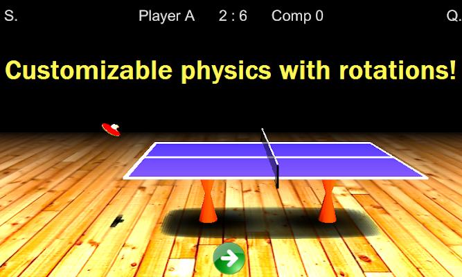Table tenis - screenshot