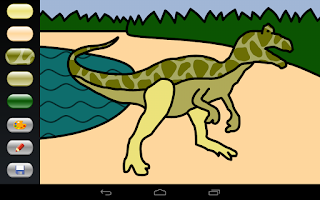 Screenshot of Zebra Paint Coloring App