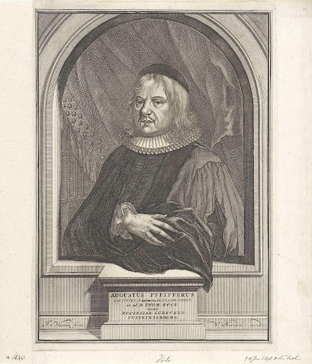 Portret van August Pfeiffer