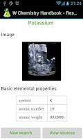 Screenshot of W Chemistry Handbook