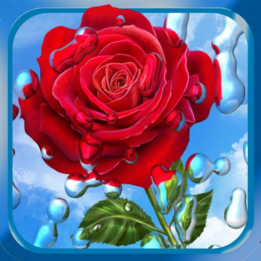 夏季雨,鮮花,高清壁紙 個人化 App LOGO-硬是要APP