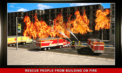 911 Rescue Fire Truck 3D Sim  screenshots 3