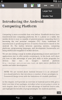 Screenshot of ePub Reader for Android
