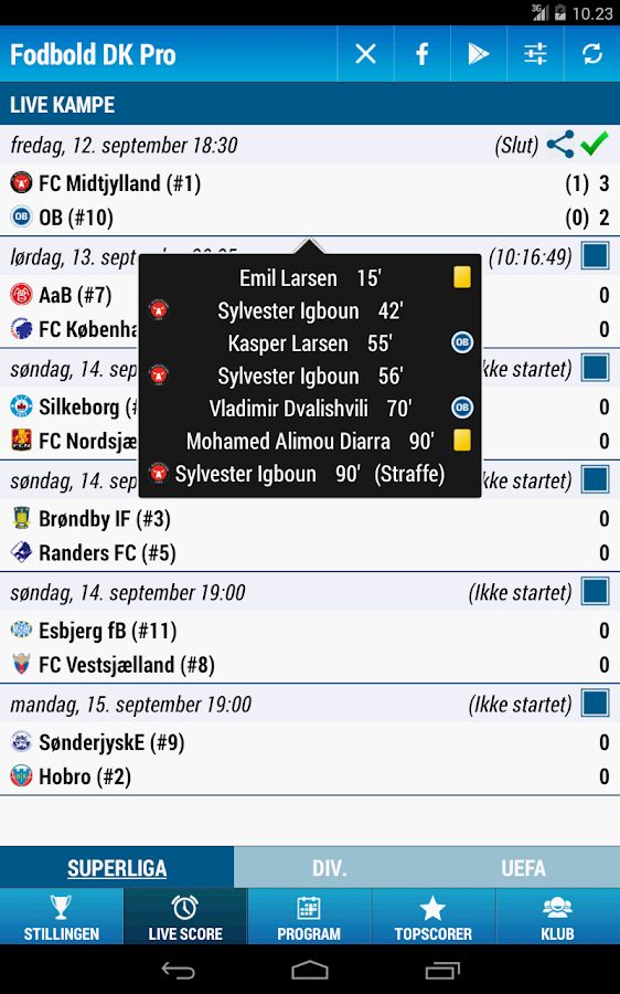 Fodbold Danmark Pro- screenshot