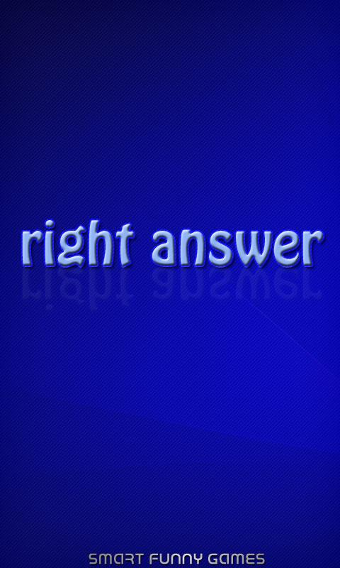 Right answer? - screenshot