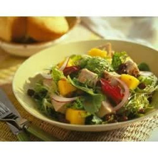 Caribbean Pork and Mango Salad.