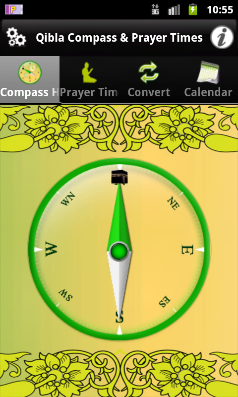 Qibla Compass & Prayer Times - screenshot