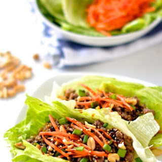 Healthy Asian Lettuce Wraps.