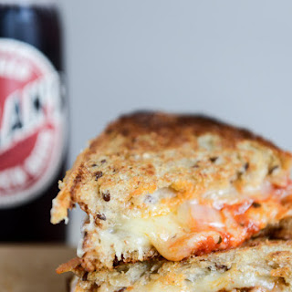 Spicy Mini Meatball Grilled Cheese.