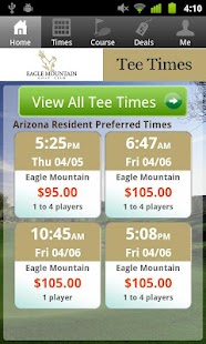Eagle Mountain Golf Tee Times - screenshot thumbnail