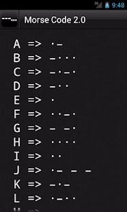 Morse Code 2.0 screenshot