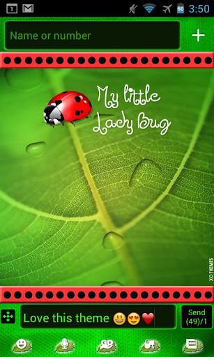 Ladybug Cute Theme Go SMS Pro