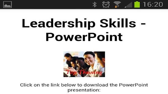 Leadership Skills PowerPoint