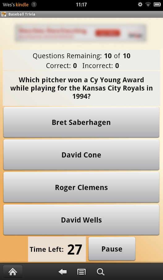 Baseball Trivia - screenshot