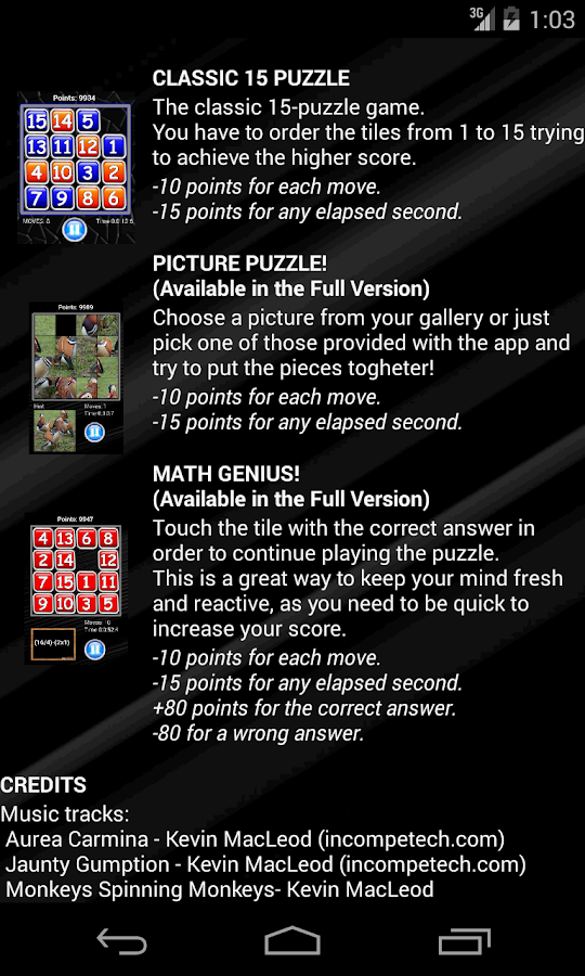 15 Puzzle (Free)- screenshot