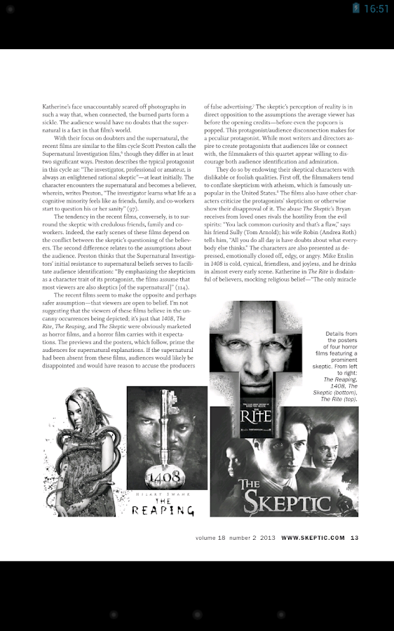 Skeptic Magazine - screenshot
