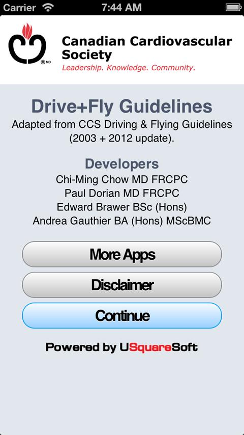 CCS Driving Guidelines - screenshot