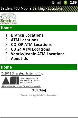 Settlers FCU Mobile Banking - screenshot