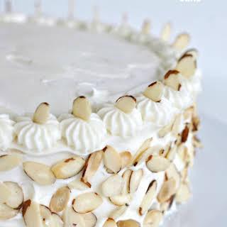 Amaretto Almond White Cake.