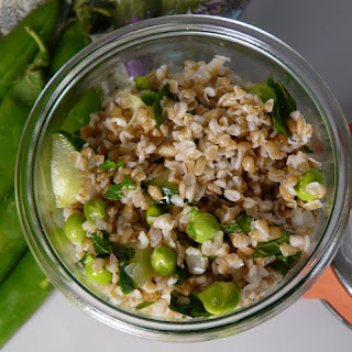 Bulgur Wheat with Fresh Peas and Mint.