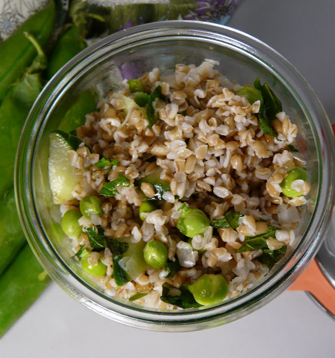 Bulgur Wheat with Fresh Peas and Mint Recipe